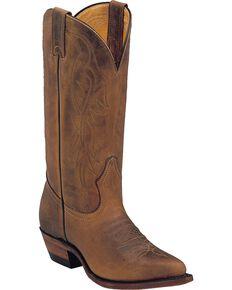 Boulet Women's Western Boots, Golden Tan, hi-res