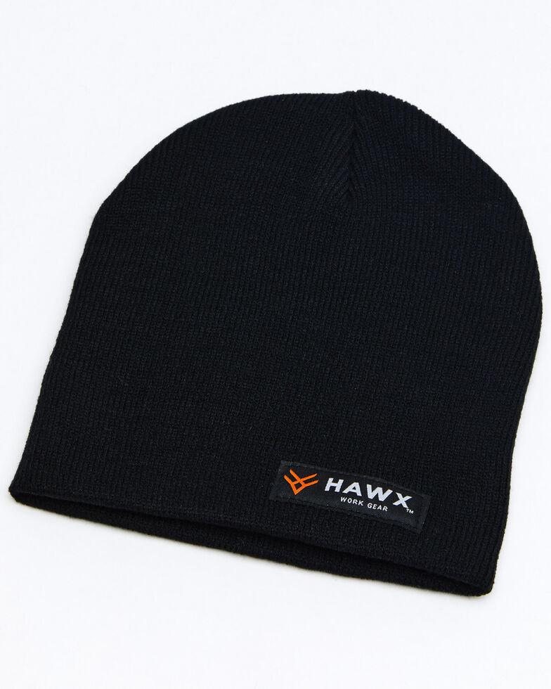 Hawx® Men's Black Bar Logo Skull Cap , Black, hi-res