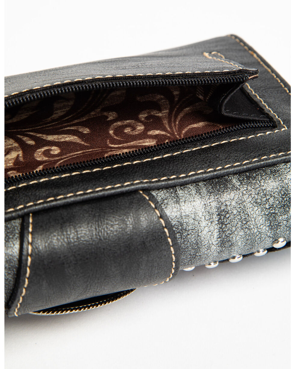 Shyanne Women's Multi Color Embroidered Feather Wallet, , hi-res