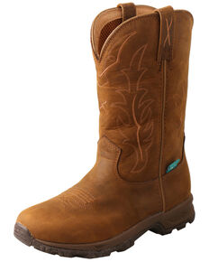 Twisted X Women's Wellington Hiker Boots - Round Toe, Brown, hi-res