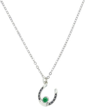Sterling Lane Women's May Birthstone Necklace , Silver, hi-res