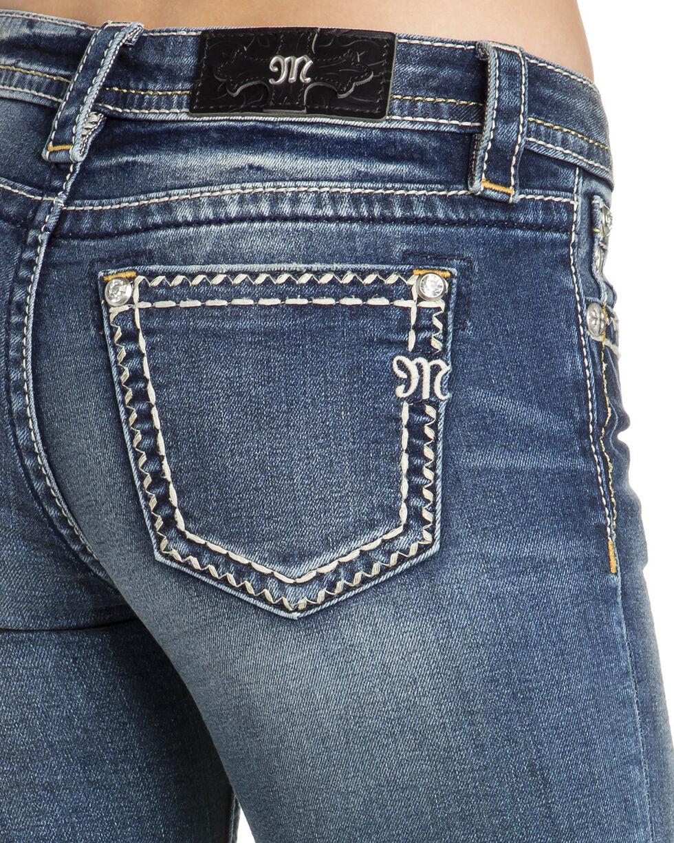 Miss Me Women's Faux Flap Pocket Skinny Jeans, Indigo, hi-res