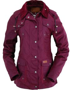 Outback Trading Co. Jill-A-Roo Oilskin Jacket, Berry, hi-res