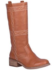 Dingo Women's Longhorn Western Boots - Round Toe, Cognac, hi-res
