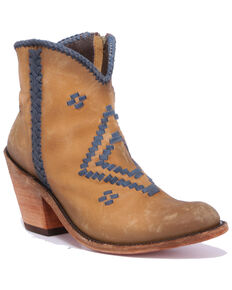 Liberty Black Women's Vegas Hueso Claro Western Booties - Round Toe, Tan, hi-res