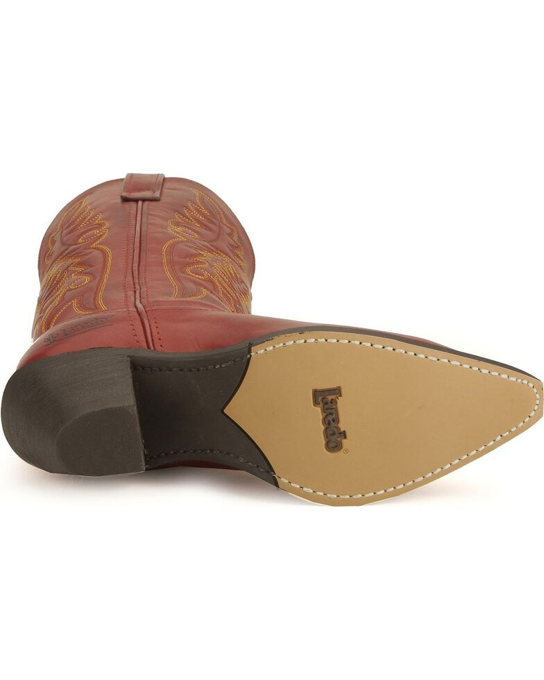 Laredo Women's Snip Toe Madison Western Boots, Red, hi-res