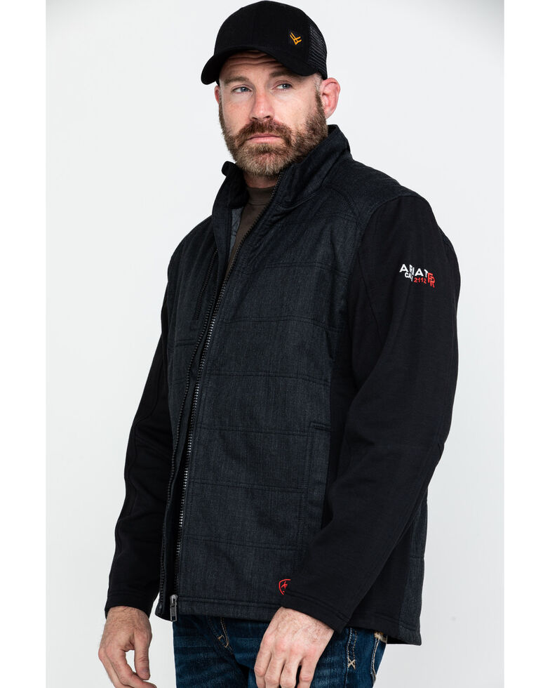 Ariat Men's FR Cloud 9 Insulated Work Jacket - Tall , Black, hi-res
