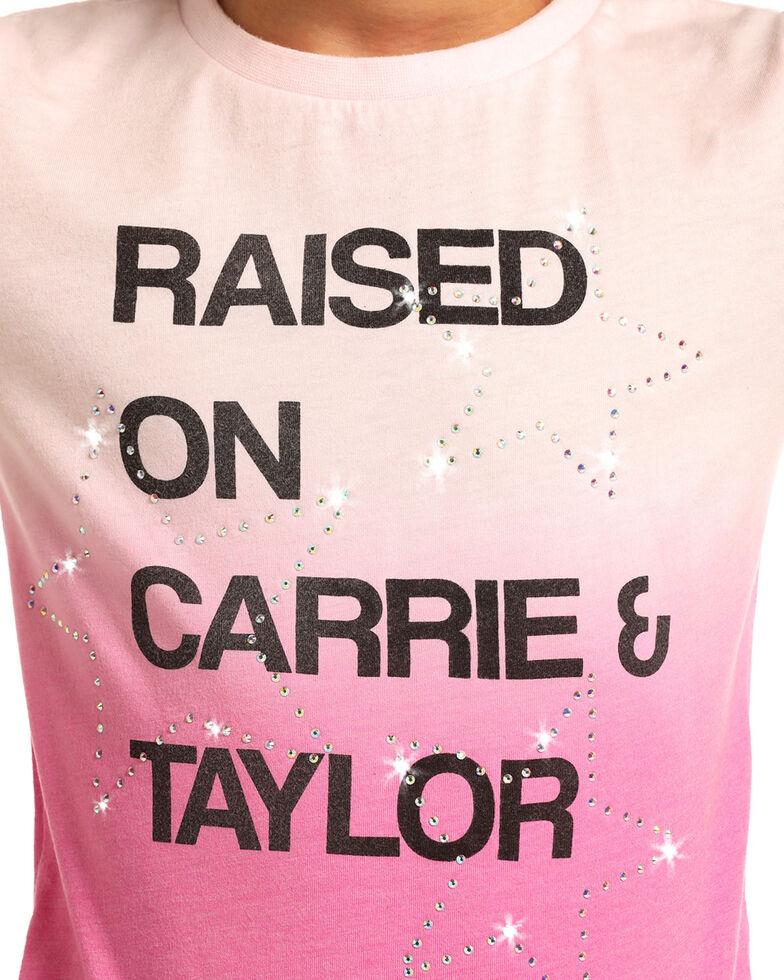 Rock & Roll Denim Girls' Carrie & Taylor Tee, Pink, hi-res