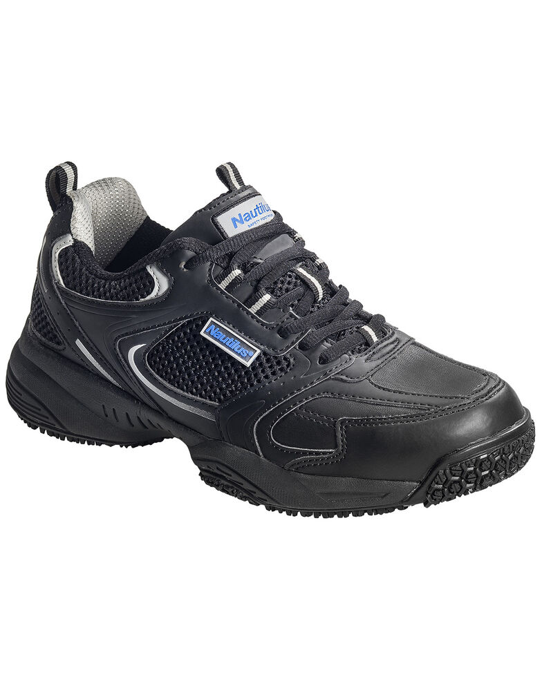 Nautilus Men's Steel Toe Slip Resistant Safety Shoes, Black, hi-res