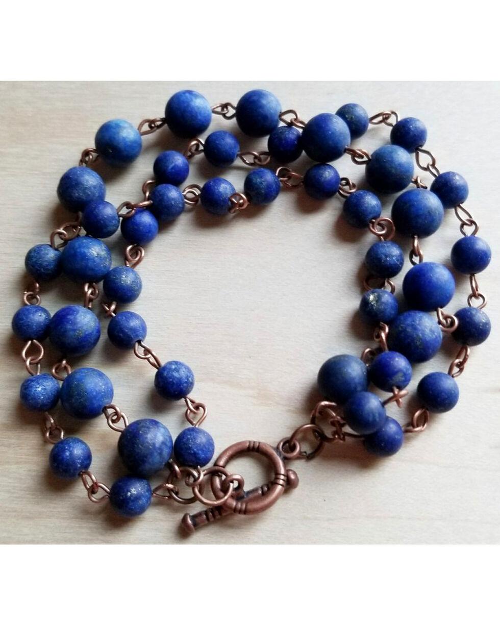 Jewelry Junkie Women's Frosted Blue Triple Strand Bracelet , Blue, hi-res