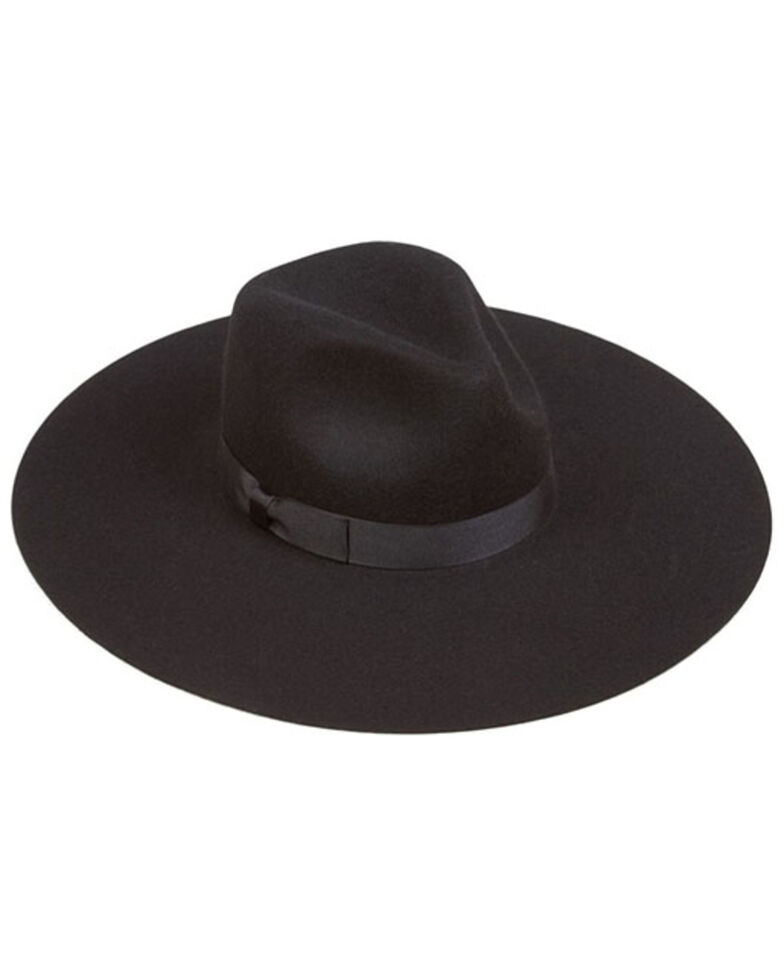 Lack Of Color Women's Black Montana Midnight Muse Wool Felt Western Hat , Black, hi-res