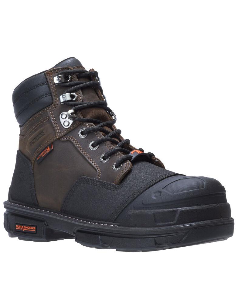 Wolverine Men's Yukon Carbonmax Work Boots - Composite Toe, Dark Brown, hi-res