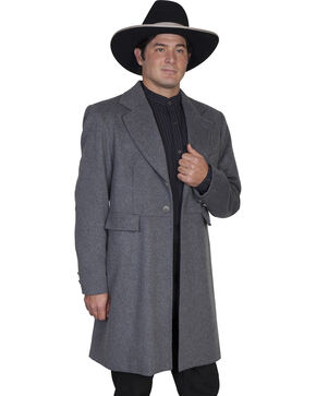 WahMaker Old West by Scully Wool Blend Frock Coat, Charcoal Grey, hi-res