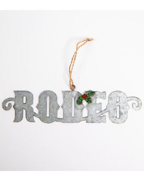 BB Ranch Galvanized Rodeo Cutout Ornament, Silver, hi-res