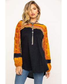Free People Women's Tripoli Top, Black, hi-res