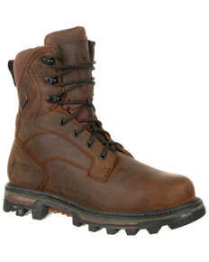 Rocky Men's BearClaw FX Insulated Waterproof Outdoor Boots - Round Toe, Dark Brown, hi-res