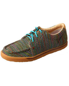 Twisted X Women's Multicolored Hooey Loper Shoes - Moc Toe, Multi, hi-res