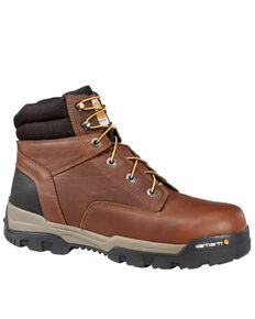 Carhartt Men's Ground Force Work Boots - Composite Toe, Brown, hi-res