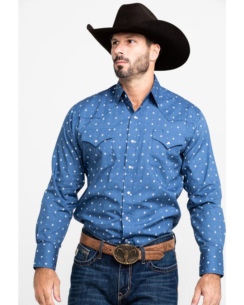 Ely Cattleman Men's Assorted Multi Geo Print Long Sleeve Western Shirt , Multi, hi-res