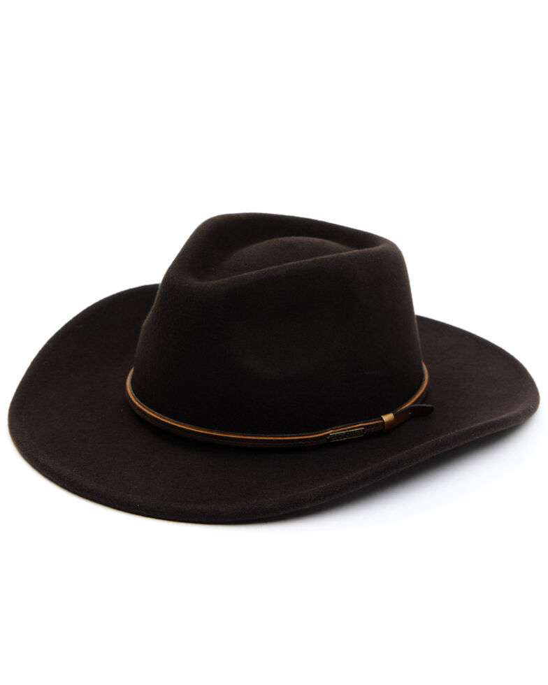 Cody James Men's Brown Wool Felt Western Hat , Brown, hi-res