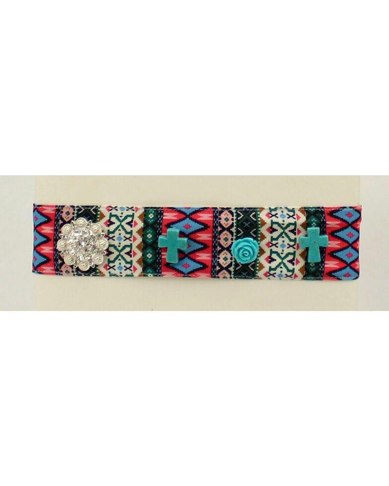 Blazin Roxx Tribal Print Fabric Headband, Multi, hi-res