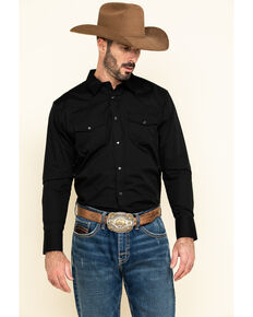 Gibson Men's Black Lava Long Sleeve Snap Shirt, Black, hi-res