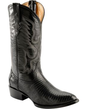 Ferrini Men's Teju Lizard Exotic Western Boots, Black, hi-res