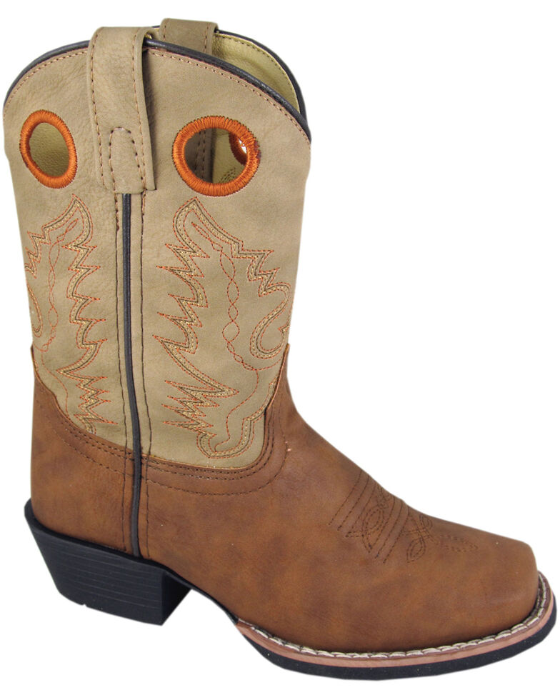 Smoky Mountain Youth Boys' Memphis Western Boots - Square Toe, Tan, hi-res