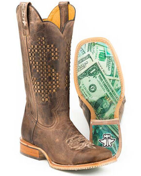 Tin Haul Men's Money Talks Western Boots - Square Toe, Black, hi-res
