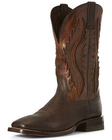 Ariat Men's Sienna VentTEK Western Boots - Wide Square Toe, Brown, hi-res