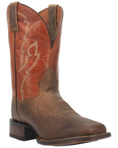 Dan Post Men's Cobain Western Boots - Wide Square Toe, Tan, hi-res