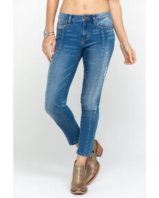 Miss Me Women's Light Wash Basic Skinny Jeans , Blue, hi-res