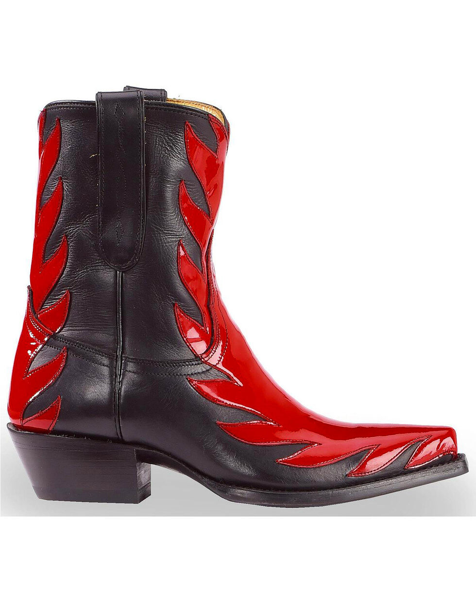 Liberty Black Women's Red Patent Kingdom Boots - Snip Toe, Red, hi-res