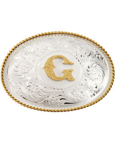 """Montana Silversmiths Initial """"G"""" Buckle, Silver, hi-res"""