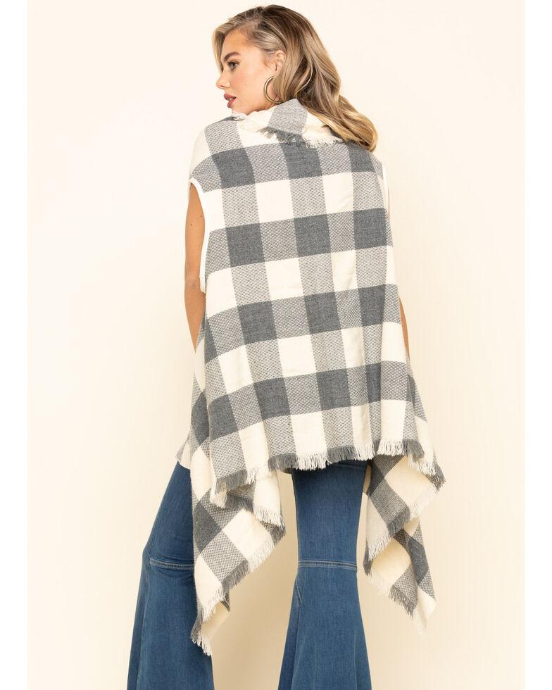 Shyanne Life Women's Tan Woven Frayed Buffalo Check Vest, Tan, hi-res