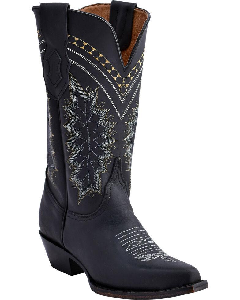 Ferrini Women's Black Navajo Western Boots - Snip Toe , Black, hi-res