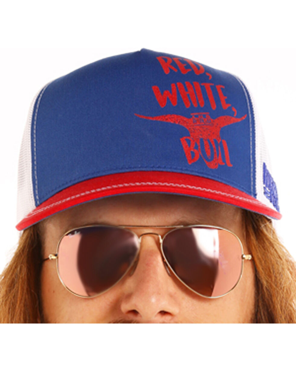 Dale Brisby Men's Red White & Bull Cap, Blue, hi-res