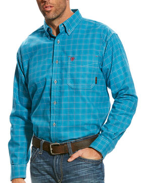 Ariat Men's FR Kody Long Sleeve Button Down Work Shirt, Multi, hi-res