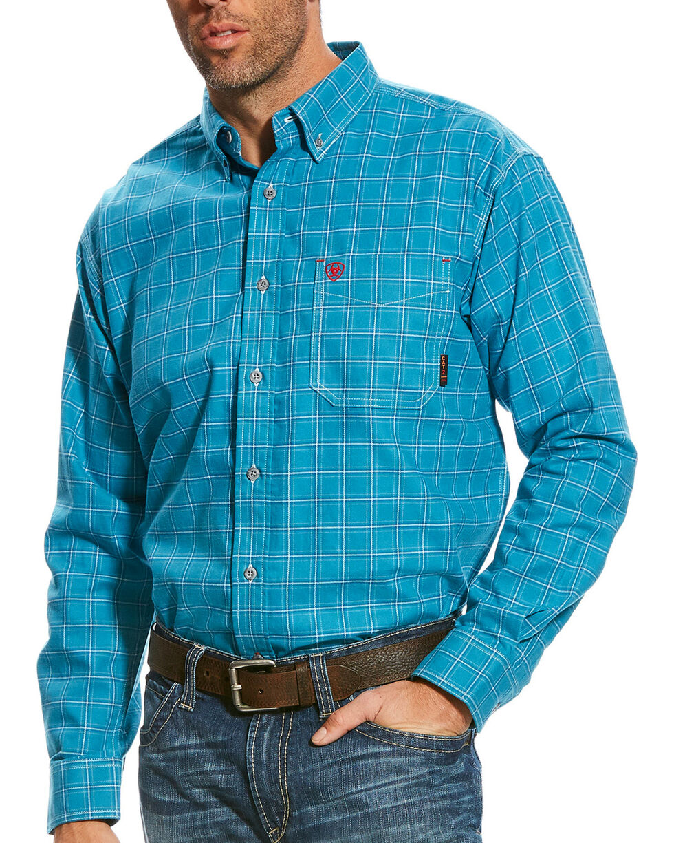 Ariat Men's FR Kody Long Sleeve Button Down Work Shirt, Multi, hi-res