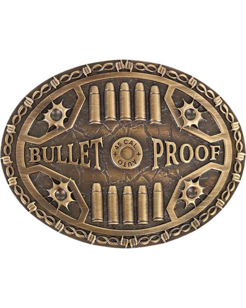 Cody James Bullet Proof Belt Buckle, Medium Brown, hi-res