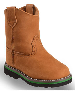 John Deere Infants' Johnny Popper Wellington Western Boots, Brown, hi-res