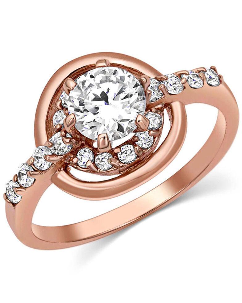 Montana Silversmiths Women's Double Halo Rose Gold Ring, Rose, hi-res