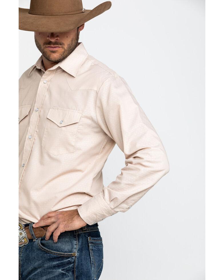Roper Men's Classic Tone Tan Solid Long Sleeve Western Shirt , Tan, hi-res