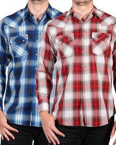 Ely Cattleman Men's Assorted Plaid Long Sleeve Shirt, Multi, hi-res