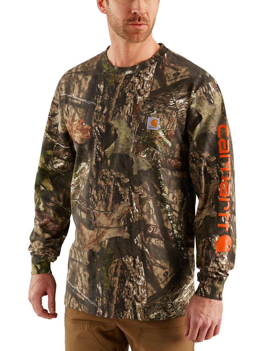 Carhartt Men's Camo Workwear Graphic Long-Sleeve T-Shirt - Big, Multi, hi-res