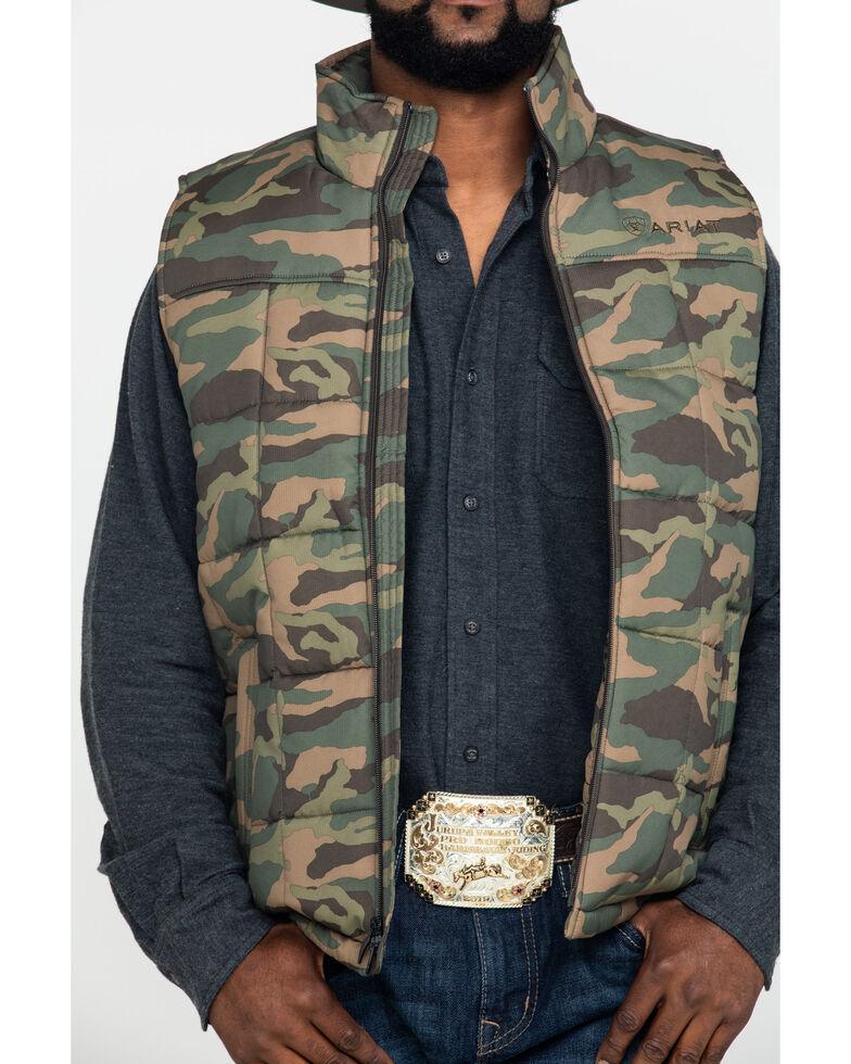 Ariat Men's Camo Crius Zip Front Vest , , hi-res