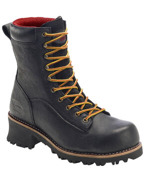 Avenger Men's Waterproof Logger Boots - Composite Toe, Black, hi-res