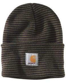 Carhartt Men's Acrylic Watch Rib-Knit Work Hat , Olive, hi-res
