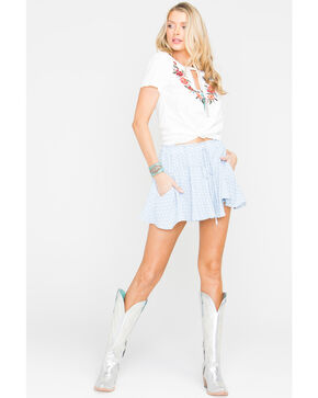 Sage the Label Women's Baby Blues Mini Skirt , Blue, hi-res
