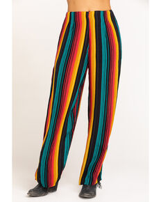 Rock & Roll Cowgirl Women's Serape Wide Leg Pants, Multi, hi-res